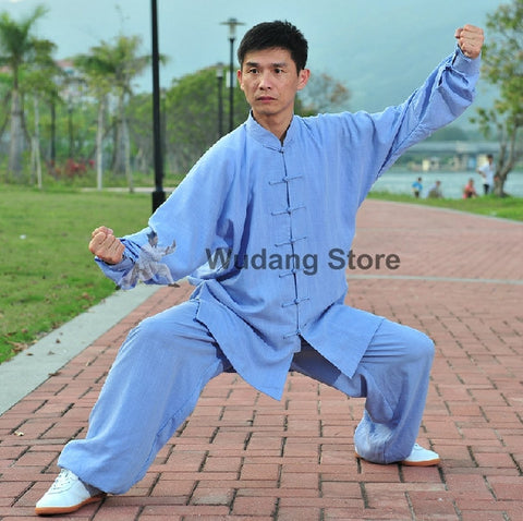 Light Blue Tai Chi Uniform