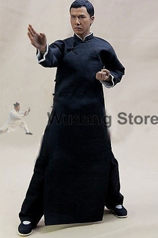 100% Wool Traditional Long Ip Man Wing Chun Coat for Men