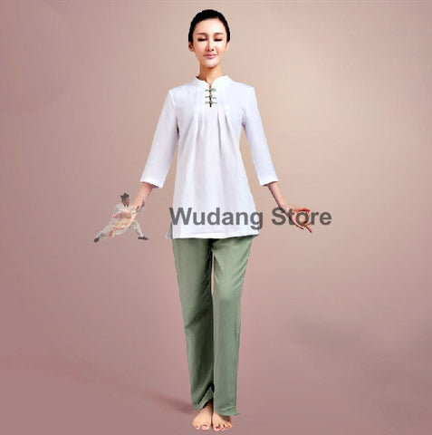 Casual Yoga Meditation Tai Chi Suit for Women - Wudang Store