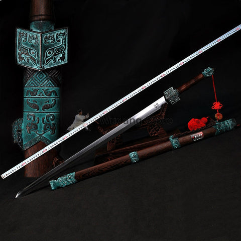 Ancient Style Qin Dynasty Tai Chi Jian Pattern Steel/ Carbon Steel - Wudang Store