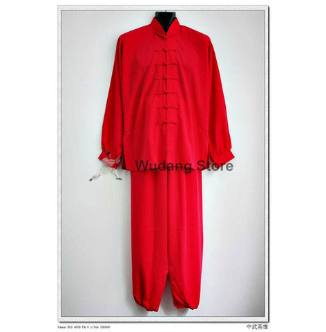 Red Tai Chi Uniform