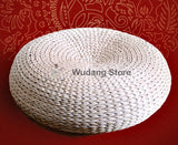 Hand-Woven Straw Meditation Cushion 3 Sizes - Wudang Store