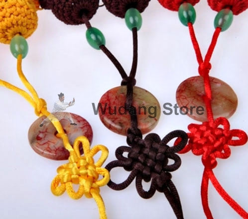 Sword Tassel With Red Jade Stone In 3 Colors