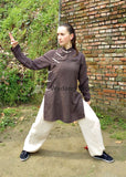 Brown & Beige Feminine Tai Chi Suit