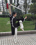 Black & White Long Tai Chi Uniform