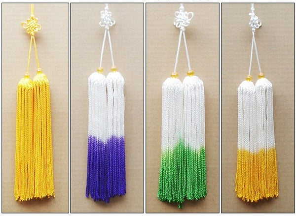 Ice Silk Tai Chi Sword Tassel 8 Ombre Colors
