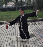 Black & White Long Tai Chi Uniform - Wudang Store