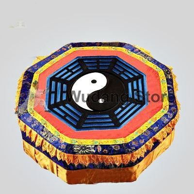 Wooden Blue Bagua Taoist Kneeling Stool