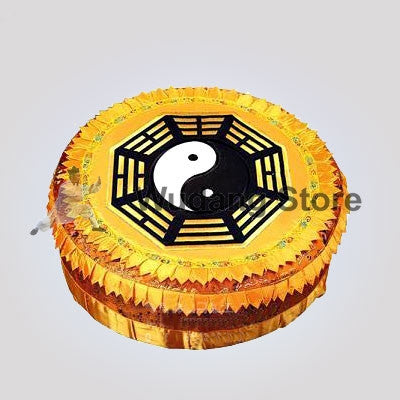 Yellow Round Bagua Taoist Kneeling Stool