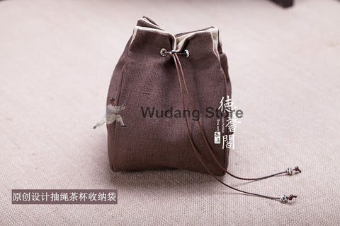Traditional Thick Canvas Tea Travel Bag