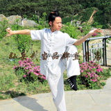 White Short Sleeved Tai Chi Uniform