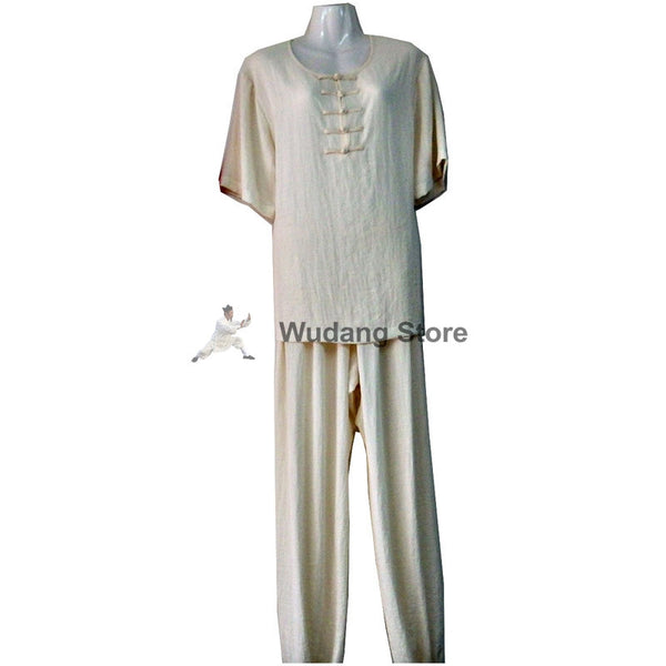 White Summer Tai Chi Uniform
