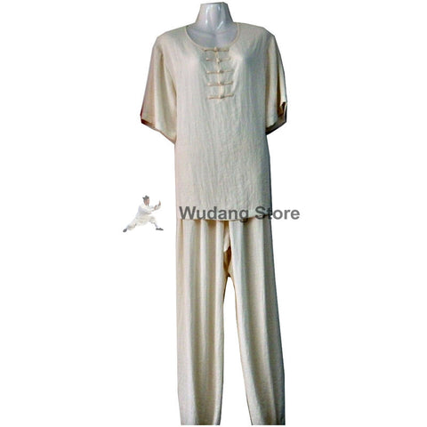 White Summer Tai Chi Uniform - Wudang Store