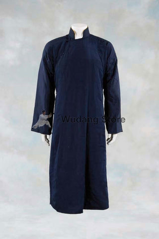 100% Wool Elegant High Collar Wing Chun Winter Coat - Wudang Store