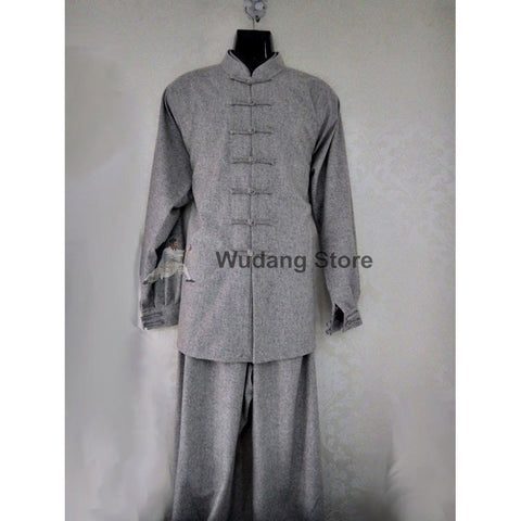 Grey Sheep Wool Tai Chi Uniform