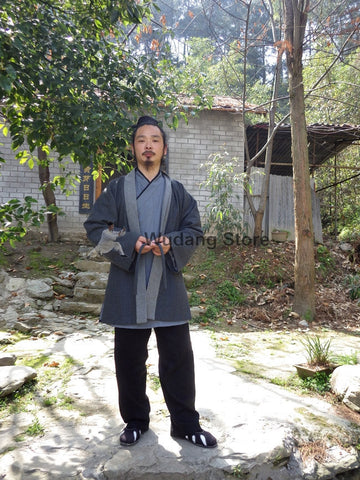 100% Sheep Wool Wudang Master Coat by Master Chen Shiyu - Wudang Store
