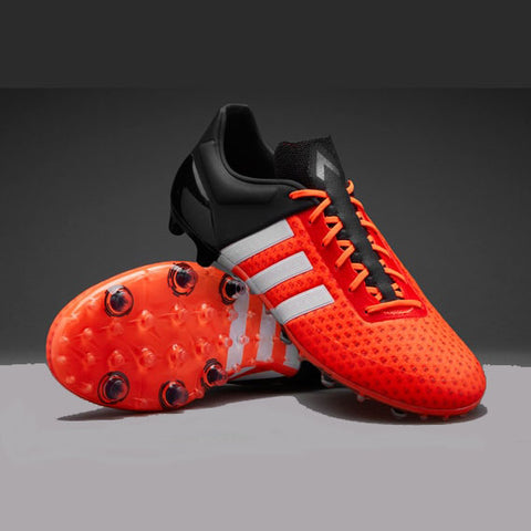 4 x adidas ACE 15+ Primeknit FG Football Boots Orange / White / Black rrp£225.00 Only £61.99!!