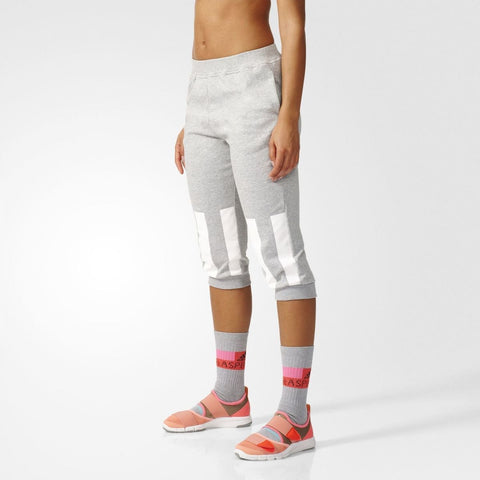 10 x adidas Womens Stella McCartney Short Cropped Sweatpants rrp£65 (AP6171) Only £9.99