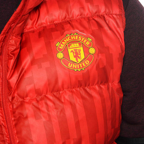 Last 6 x adidas Mens Manchester United Football Club Down Vest AY2790 rrp£122 **Final Price Drop** Only £24.49