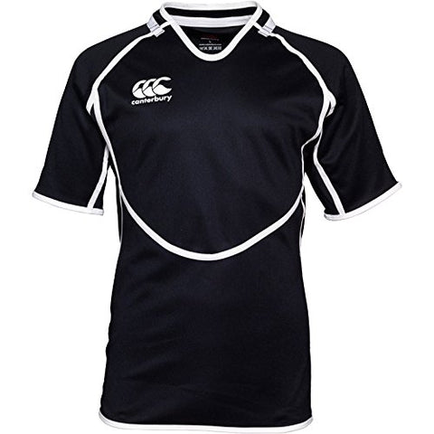 11 x Canterbury Mens Conversion Black Rugby Jerseys (B13429 989) rrp£45 - Now Only £5.39