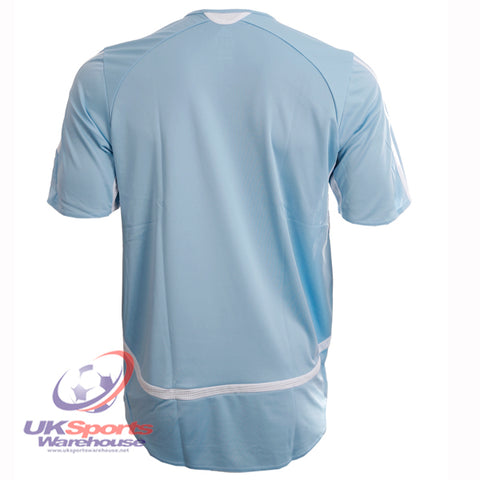 46 x adidas Aquilla Climacool Short Sleeved Football Shirt Jersey Blue/White rrp£25 Only £5.69!!