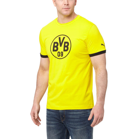20 x Puma Borussia Dortmund Football Club Mens Badge T-Shirts (750122-01) rrp£30 - Only £6.99