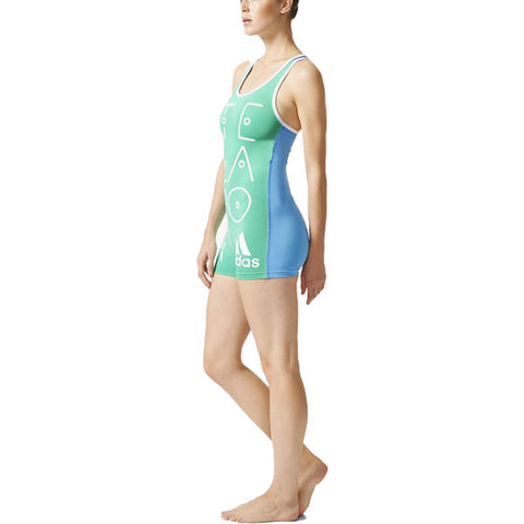 Last 12 x adidas Stella McCartney Womens All In One Swimsuit rrp£40 (AI8598) - Was £11.69 - Now Just £9.99!