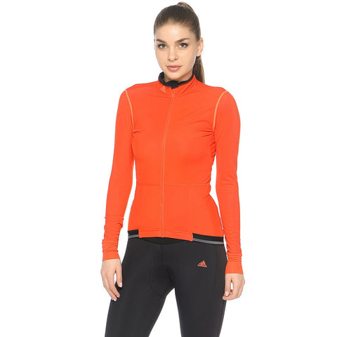 Last 14 x adidas Supernova Womens Long Sleeved Cycling Jerseys (AP1154) rrp£85 - Incredibly Only £18.49