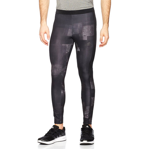 Last 12 x adidas Kanoi Graphic Mens Long Running Tights rrp£35 (AP8201) - Was £11.59 - Now £9.99