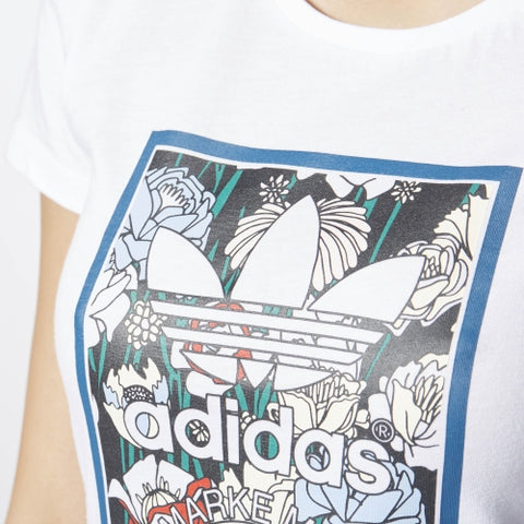 Last 23 x adidas Originals Womens Tongue Label Slim T-Shirts AY9316 rrp£35 - Now only £6.89 each!!!