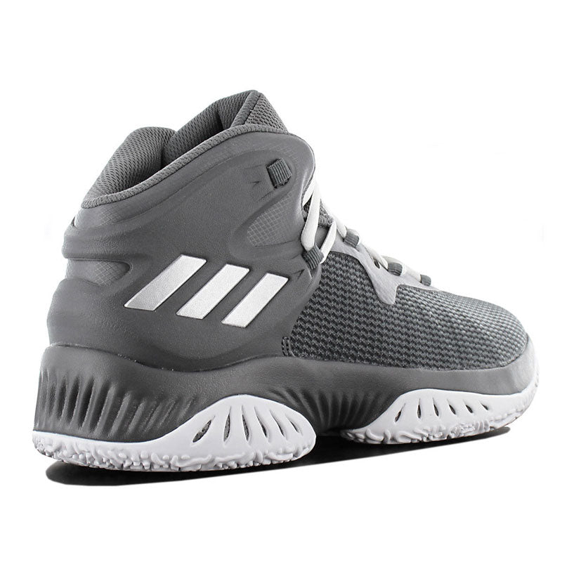 Adidas Mens Explosive Bounce Baskestball Shoes Trainers Grey