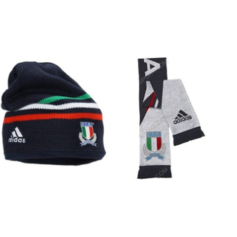 220 x adidas Italy / Italia Official National Rugby Beanie and Scarf set rrp£30 - Amazingly only £2.99