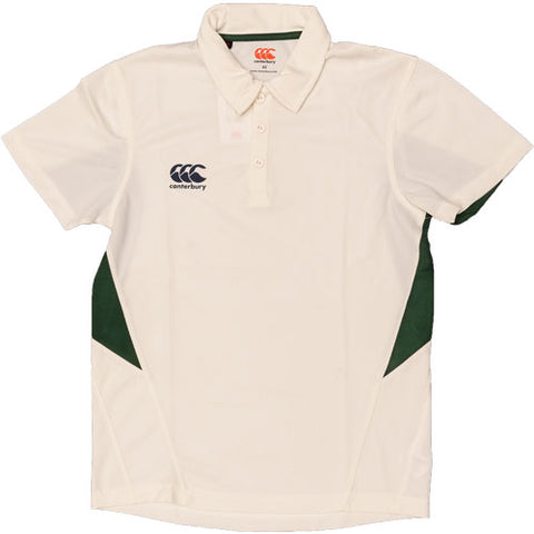 20 x Canterbury Junior Cricket Shirts Cream / Green E733306-B51 rrp£25 Only £5.99