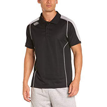 10 x Canterbury Men's Black Pro Cut & Sew Dry Polo Shirts (C07356) rrp£40, Now Just £5.99!!