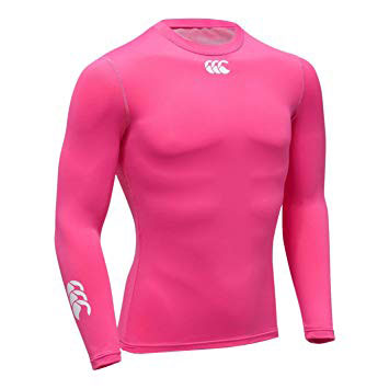 12 x Canterbury Men's Pink Baselayer Cold Longsleeve Top (C07210) rrp£30, Only £4.79!!