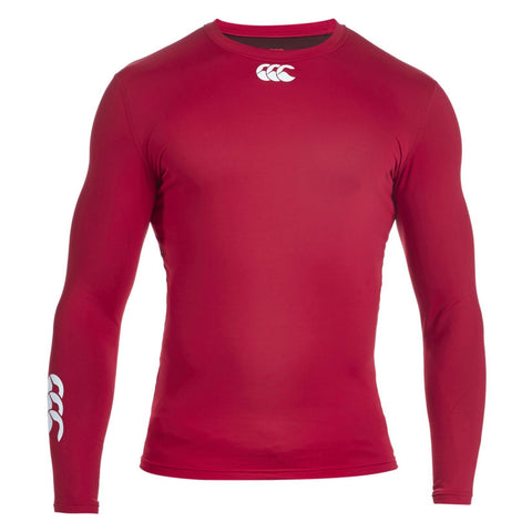Last 9 x Canterbury Junior Baselayer Long Sleeved Rugby, Fitness, Football Tops Red rrp£30 Only £6.99!!