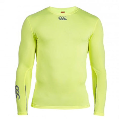 21 x Canterbury Mens Baselayer Long Sleeve Tops Rugby, Fitness, Football, Cycling Flouresent Yellow rrp£40 Only £9.19!!