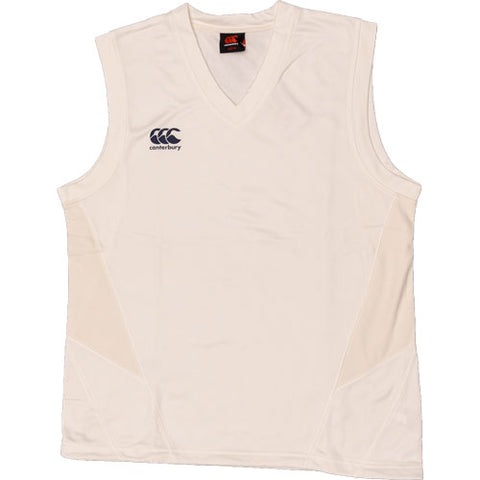 20 x Canterbury Junior Cricket Sleeveless Jumpers Cream E752713-031 rrp£30 Only £7.99