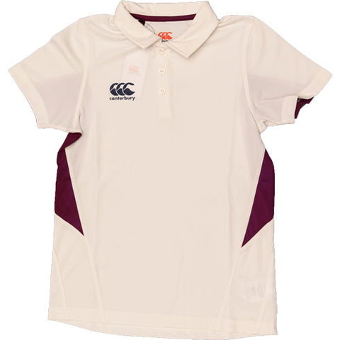 Last 15 x Canterbury Junior Cricket Shirts Cream/ Ivory E733306-040 rrp£25 Only £5.99