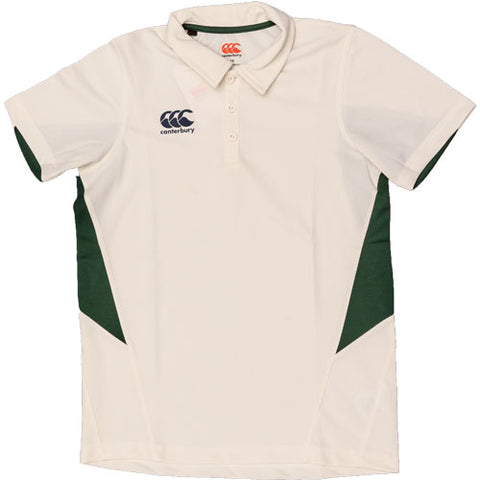 Last 19 x Canterbury Mens Cricket Shirts Cream / Green E533306-B51 rrp£30 Only £6.49
