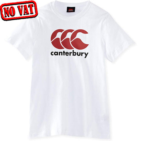 30 x Canterbury CCC Kids Logo T-Shirt - White (E744093 001) rrp£17 Now only £3.39!