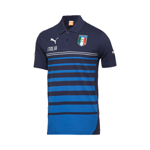 9 x Puma Men's FIGC Italia Hooped Polo Shirts (744274-03) rrp£60, Now an Incredible £9.99!!