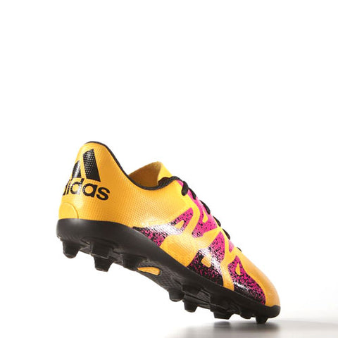 14 x adidas X 15.4 FG Junior Football Boots S74598 Orange - Pink - Black  rrp£35 **Final Price Drop** Only £8.99 (28 in stock)