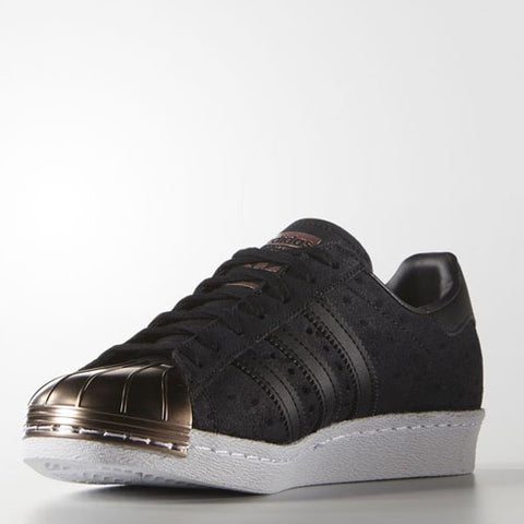 Last 11 x adidas Originals Womens Trefoil Superstar 80s Metal Toe Trainers Black S76712 rrp£120 Only £37.49