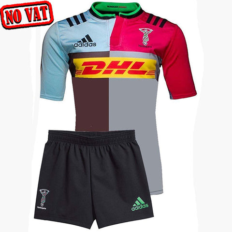 Last 21 x adidas Harlequins Home Mini Rugby Kits (S92605) rrp£40 - Only £5.99