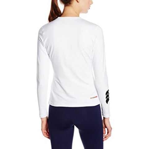33 x Canterbury Womens Cold Rugby / Fitness / Running / Football Long Sleeve Baselayer Tops White rrp£35 Only £8.39