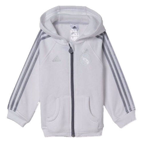 Last 19 x adidas Real Madrid Football Club Junior Hoodies (AA1789) rrp£40 - Only £10.49