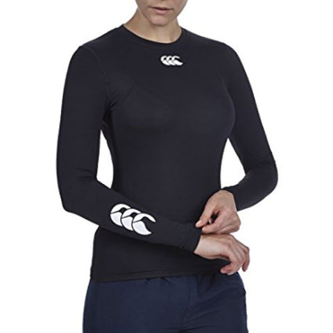 25 x Canterbury Womens Rugby / Fitness / Running / Football Long Sleeve Baselayer Tops Black rrp£35 Only £8.39