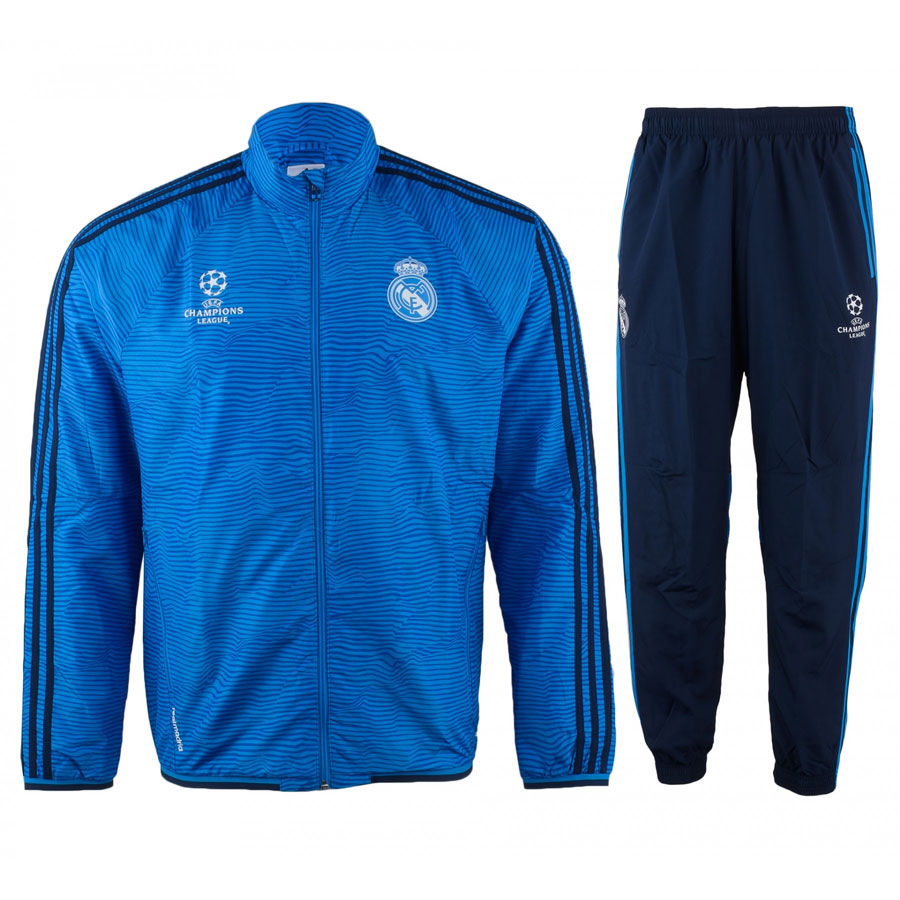 cheaper 21bc5 bbdb8 Description  ITEM DESCRIPTION   The adidas Real Madrid UEFA Champions  League Presentation Tracksuit ...