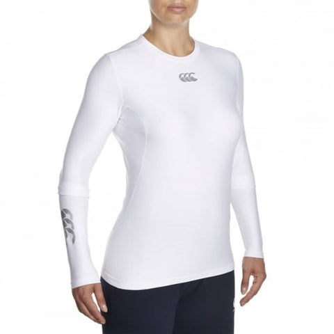 Last 13 x Canterbury Womens White Essential Long Sleeve Baselayer Tops (E642345 1) rrp£30 - Incredibly Only £4.79